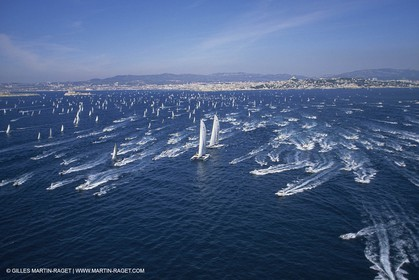 Sailing, OffshoreRacing,maxi Multihulls,  The Race, parade