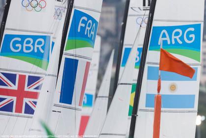 16 08 2016, Rio de Janeiro (BRA), 2016 Olympic Games, Sailing, Nacra 17, Billy Besson, Marie RIou