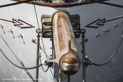 09 04 2013 - La Ciotat (FRA,13) - Charpentiers Réunis Méditerrannée boatyard - launch of Marconi ketch Adria after a 9 months refit