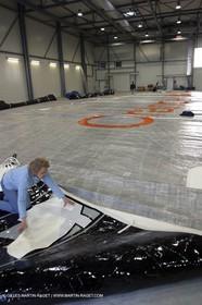 Vannes - Multiplast Boatyard - Orange II Orange II sails