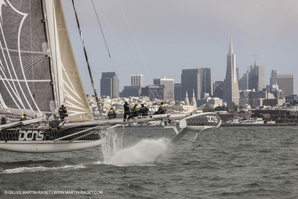 23 08 2012 - San Francisco (USA,CA) l'Hydroptère sails in San Francisco Bay