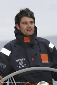 Trophée Jules Verne - Lorient - 30 12 04 - Orange II - Entraînement - A bord - Florent Chastel