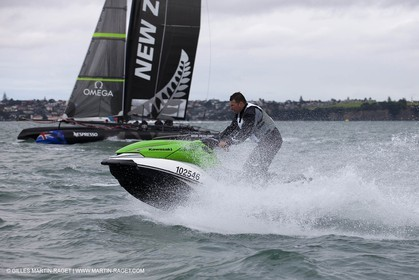 25 04 2011 - Auckland (NZL) - 34th America's Cup - AC45 test event - day 1