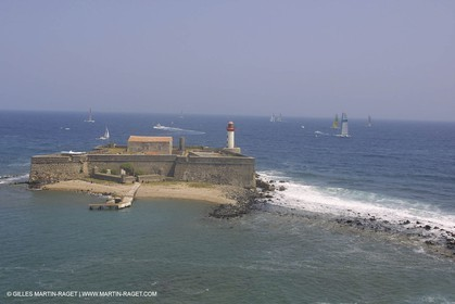 Agde Cape - Brescou fortress and lighthouse