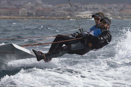 04 03 2016, Marseille (FRA,13), Olympic Sailing, 49er, french representatives Julien D'Ortoli Noë Delpech training