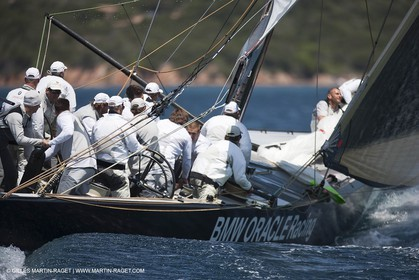19 05 2010 - La Maddalena (ITA, Sardinia) Louis Vuitton Trophy - BMW ORACLE Racing - Training