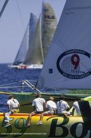 Yacht Racing, Multihull, ORMA 60, Jean Le Cam, Bonduelle