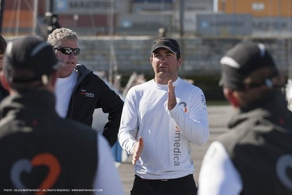 Volvo Ocean Race 2014-2015 - Team Alvimedica trainings - Boat preparation - Lisbon (POR) - 25 04 2014