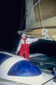 Sailing, Offshore Racing, Route du Rhum 1990, Fleury Michon IX, Philippe Poupon