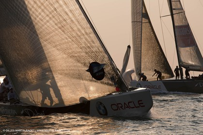22 11 2010 - Dubai (UAE) - Dubai Louis Vuitton Trophy -  Round 2 - BMW ORACLE Racing Vs Emirates Team New Zealand