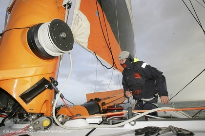 Orange II  - 2005 Jules Verne Trophy - Training in Bay of Biscay -Philippe Péché-