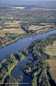Rhone river north to Arles