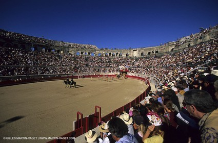 Nîmes - Bullfight in the arenas