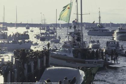 Sailing, Yacht Racing, America's Cup XVI, Newport (USA,RI), 1983, Australia II Vs Liberty