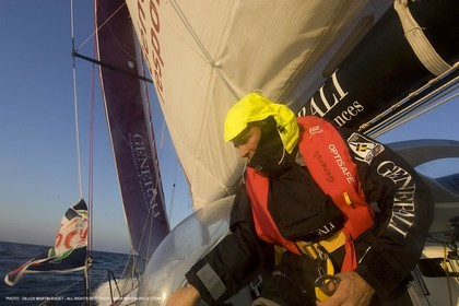27 09 2008 - Lorient (FRA, 56) - Onboard Generali with Yann Eliès - Vendée Globe 2008 Training