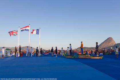 14 08 2016, Rio de Janeiro (BRA), 2016 Olympic Games, Sailing, RSX Men medal ceremony