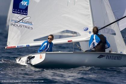 24 04 2007 - 2007 Semaine Olympique Française - Hyères (South of France) - Day 3- Team France - 470 Femme - Petitjean-Douroux