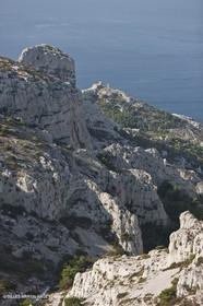 10 09 2009 - Marseille (FRA, 13) - Les Calanques - Massif de Marseilleveyre - Vallon de Mougranier - Rocher des Goudes