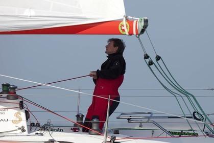 13 03 2010 -  La Grande Motte   Port Camargue (FRA) - Groupe Bel - Kito de Pavant   Sebastien Audigane training for Transat AG2R