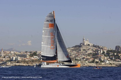 Orange II-2004 Mediterranée Record-arrival at Marseilles