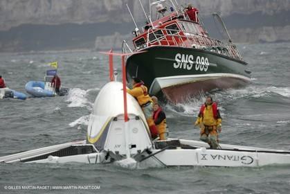 2004 ORMA Multihulls Championship - Fecamp Grand Prix - Gitana X capsize