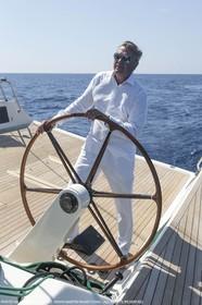 25 06 2015, Saint Tropez (FRA,83) , Sailing, Super yachts, Wally, Genie of The Lamp, Charles de Bourbon