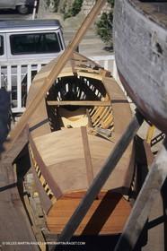 motor boats, claissc runabouts, cefit or Sagitta at Trapani boatyard (Cassis, FRA,13)