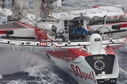 12 09 2012 - Marseille (FRA,13) - Trimaran Sodebo - Thomas Coville - Trans Mediterranée record attempt.