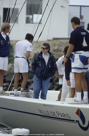 America's Cup - San Diego 1992 - movie maker Claude Lelouch onboard